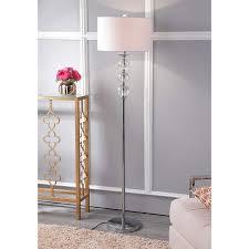 Ore International Glass Floor Lamp Satin Nickel by Amazon Com Safavieh Lighting Collection Pippa Glass Globe 62 Inch