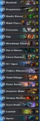 warlock aggro deck 2016 rogue deck list guide april 2016 metabomb