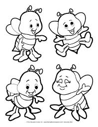 Terrific Bee Coloring Pages 60 Best Images On Pinterest