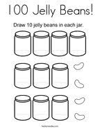 100 Jelly Beans Coloring Page