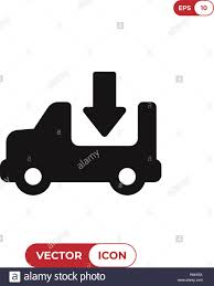 100 Truck Sign Delivery Truck Vector Icon Cargo Truck Sign Delivery Van Vector