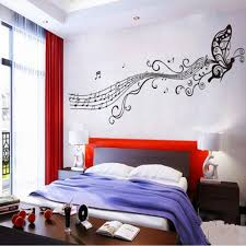 Girls Bedroom Wall Decor by Bedroom Teenage Bedroom Ideas With Butterfly U0026 Music Notes