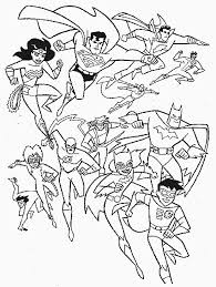 SuperheroColoringPage Sumptuous Design Superhero Coloring Page Team Superheroes With The Flash Pages For Kids Boys And