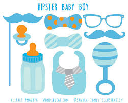 Hipster Baby Shower Clip Art Boy Baby Shower Clipart Baby