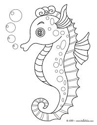 Seahorse Coloring Page Interactive Online Pages For Kids To Color And Print Have Fun This From SEAHORSE