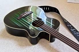 Fretless Electro Acoustic Bass Conversion Custom Paint Job