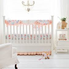 floral crib bedding peach baby bedding crib bedding