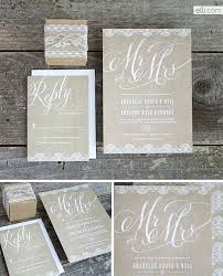 Burlap Mr And Mrs Wedding Invitation Suite Invitations With Real Vintage