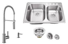 19 X 33 Drop In Kitchen Sink by Soleil 20 Gauge Stainless Steel 33 13