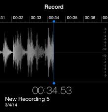 What format are voice memo files on the iPhone