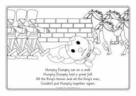 View Preview Humpty Dumpty Colouring Sheets