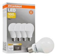 sylvania led light bulb 100w equivalent a19 soft white bulb