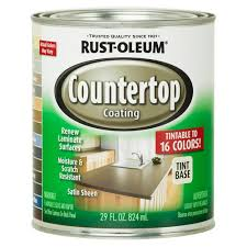 Rust Oleum Decorative Concrete Coating Applicator by Rust Oleum Specialty 1 Qt Countertop Tintbase Kit 246068 The