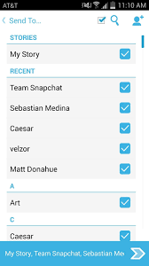 Select All Contacts with Just e Tap in Snapchat s Android App