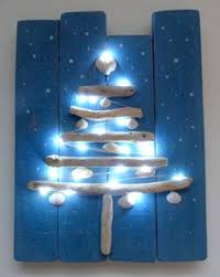 Driftwood Christmas Trees Cornwall by Beachcomber Cornish Driftwood Christmas Trees On Painted Pallet