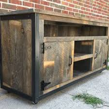 Rustic Industrial Reclaimed Wood Entertainment Center By Jeremy Paradis