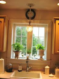 above kitchen sink lighting design and decorating ideas attractive