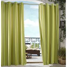 Green Striped Curtain Panels by Outdoor Decor Gazebo Stripe Grommet Outdoor Curtain Panel Hayneedle