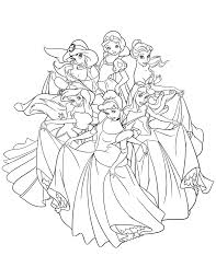 Coloriage De Disney Princesse A Imprimer
