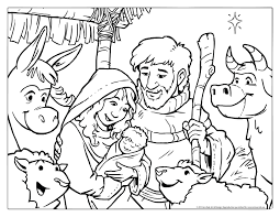 Christmas Coloring Page Free D Art Galleries In Nativity Pages For Kids