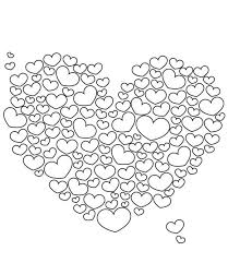 Lots Of Love Valentine Coloring Pages