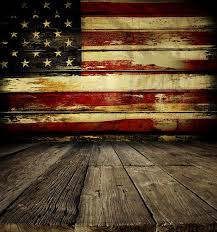 Rustic American Flag Backdrop