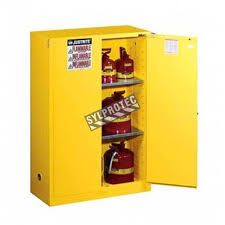Flammable Liquid Storage Cabinet Grounding by Antistatic Flexible Wire For Bonding Or Grounding Safety Cabinets