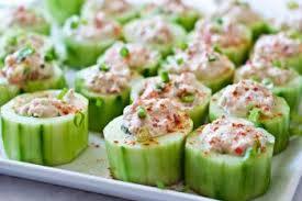 recette canape canapé de concombre au hareng recettes de cuisine suèdoise
