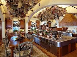 Rustic Kitchen Design With Large Island Stainless Steel Counter Top Part 87
