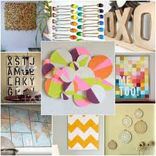 Homemade Simple Creative Wall Art Ideas Handmade Colorfull Round Wooden Paper Stained Printed Decorations