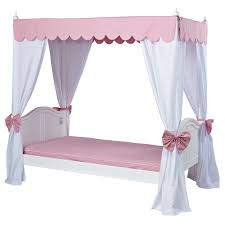 Twin Metal Canopy Bed Pewter With Curtains by Kids Canopy Beds Girls Canopy Beds Rosenberry Rooms