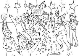 New Year Colouring Pages Within Coloring