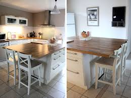 table cuisine originale ilot table haute appart cuisines en bois clair
