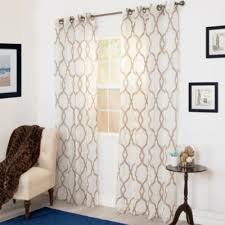 Sheer Curtain Panels With Grommets by Cambridge Home Elisa Embroidered Grommet Top Sheer Curtain Panel