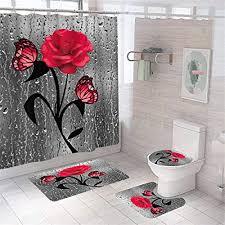rosa duschvorhänge und weitere badaccessoires günstig