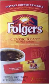 Folgers Single Serve Instant Coffee Packets Classic Roast
