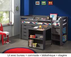 lit enfant bureau lit enfant combiné bureau et rangement theo en pin massif so nuit