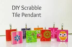 diy scrabble tile pendant home crafts by ali