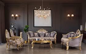 casa padrino luxus barock wohnzimmer set blau gold silber 2 sofas 2 sessel 1 couchtisch wohnzimmer möbel edel prunkvoll