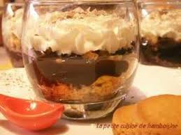 dessert rapide chocolat banane verrine choco banane au palet breton la cuisine de
