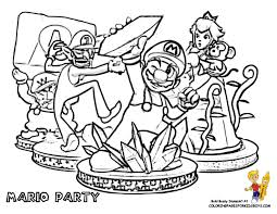 Mario Bros Coloring Party Pages Book Kids Boys