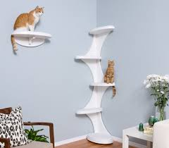 modern cat tower modern cat tower and shelf from the refined feline