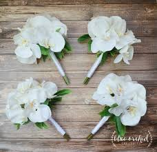 White Orchid Bridesmaid Bouquets Perfect For Tropical Beach Or Destination Weddings Petite