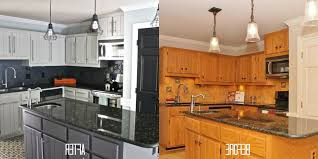 Nice Painted Kitchen Cabinets Before And After After Painting