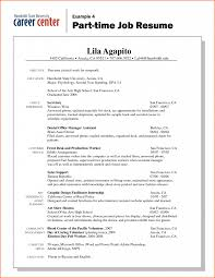 Resume Template First Job Resumes Examples And Samples Time Skills Pdf For College Students Highschool With