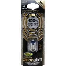 ring pair of h4 xenon ultima 120 uprated performance bulbs plus