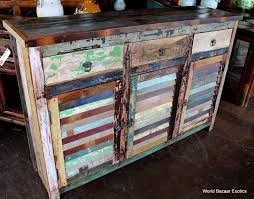 Distressed Multi Colored Wood
