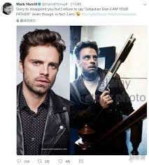 Hamill Wrote In Twitter Im Sorry To Disappoint You But I Will Not Say Sebastian Stan Am Your Father Although Fact Really Is