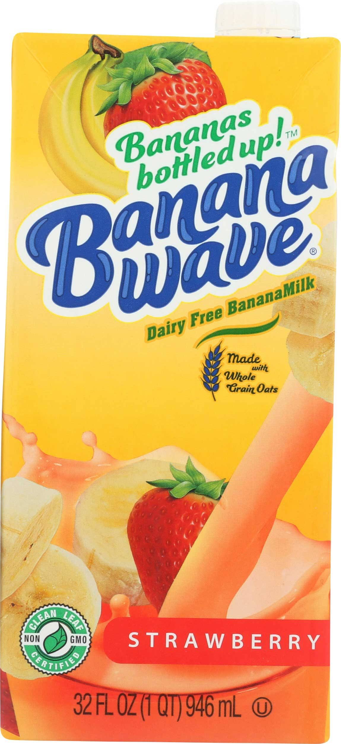 Banana Wave KHFM00332581 32 oz Strawberry Banana Milk