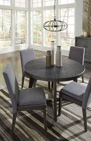 Besteneer Dark Gray 5 Pc. Round DRM Table & 4 UPH Side Chairs Cm3556 Round Top Solid Wood With Mirror Ding Table Set Espresso Homy Living Merced Natural Wood Finish 5 Piece East West Fniture Antique Pedestal Plainville Microfiber Seat Chairs Charrell Homey Design Hd8089 5pc Brnan Single Barzini And Black Leatherette Chair Coaster 105061 Circular Room At Hotel Hershey Herbaugesacorg Brera Round Ding Table Nottingham Rustic Solid Paula Deen Home W 4 Splat Back Modern And Cozy Elegant Sets